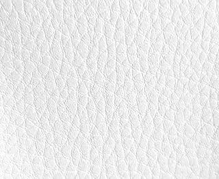 HAPPERS 1 Metro de Polipiel para tapizar, Manualidades, Cojines o forrar Objetos. Venta de Polipiel por Metros. Diseño Luna Color Blanco Ancho 140cm