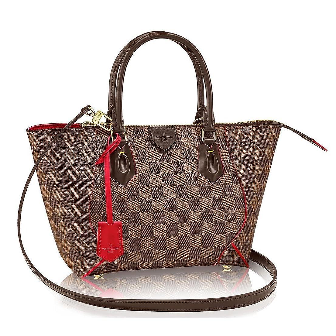 センサー不道徳感じるAuthentic Louis Vuitton Damier CaissaトートPMハンドバッグArticle : n41551チェリーMade in France