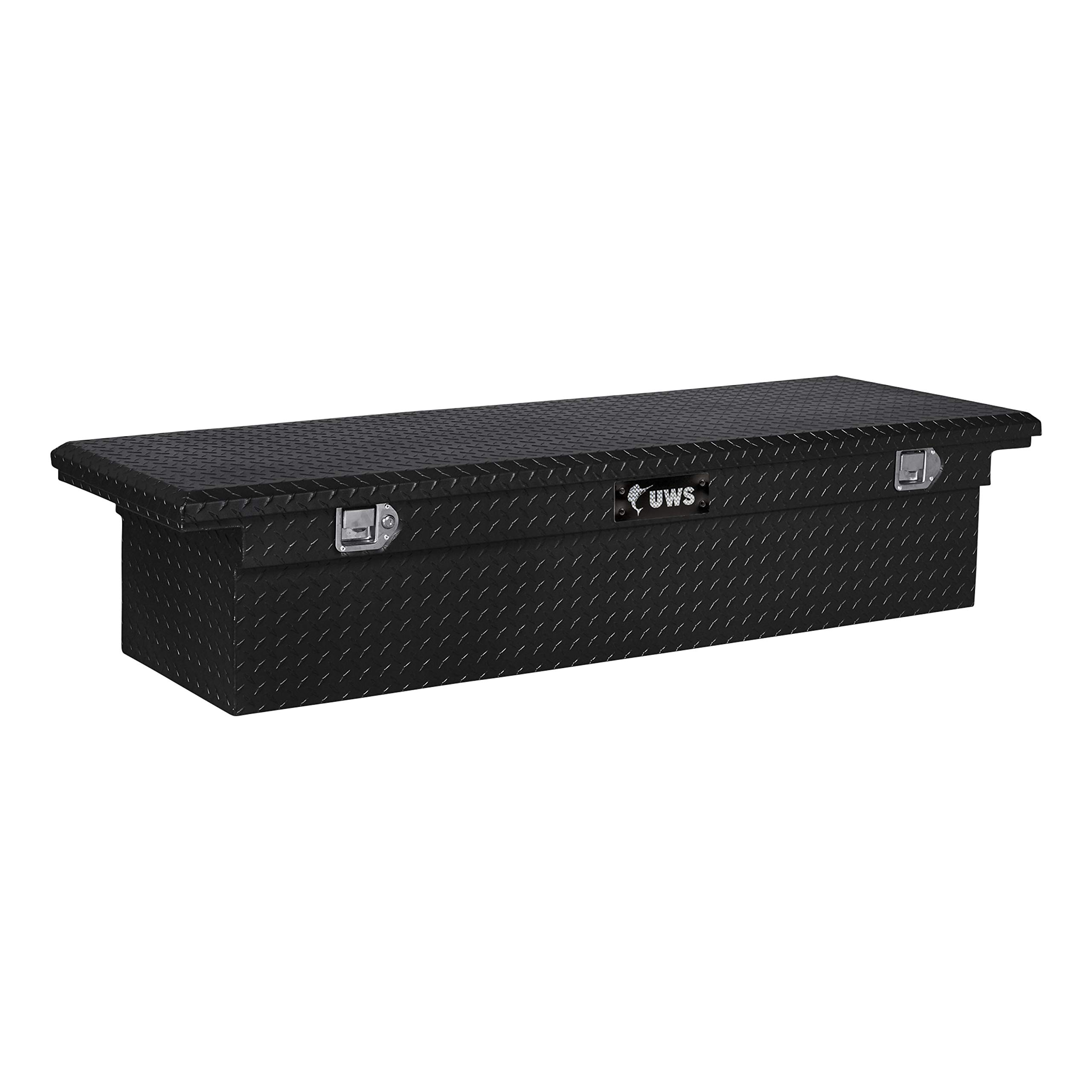 UWS TBS-60-A-LP 60 Single Lid Low Profile Aluminum Toolbox with Beveled Insulated Angled Crossover Toolbox