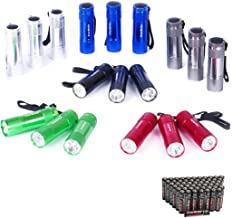 EverBrite 18-pack Mini LED Flashlight Set - Portable Flashlights Ideal for Hurricane Supplies Camping, Night Reading, Cycling, BBQ, Party, Backpacking - Includes Lanyard & 54 x AAA Batteries