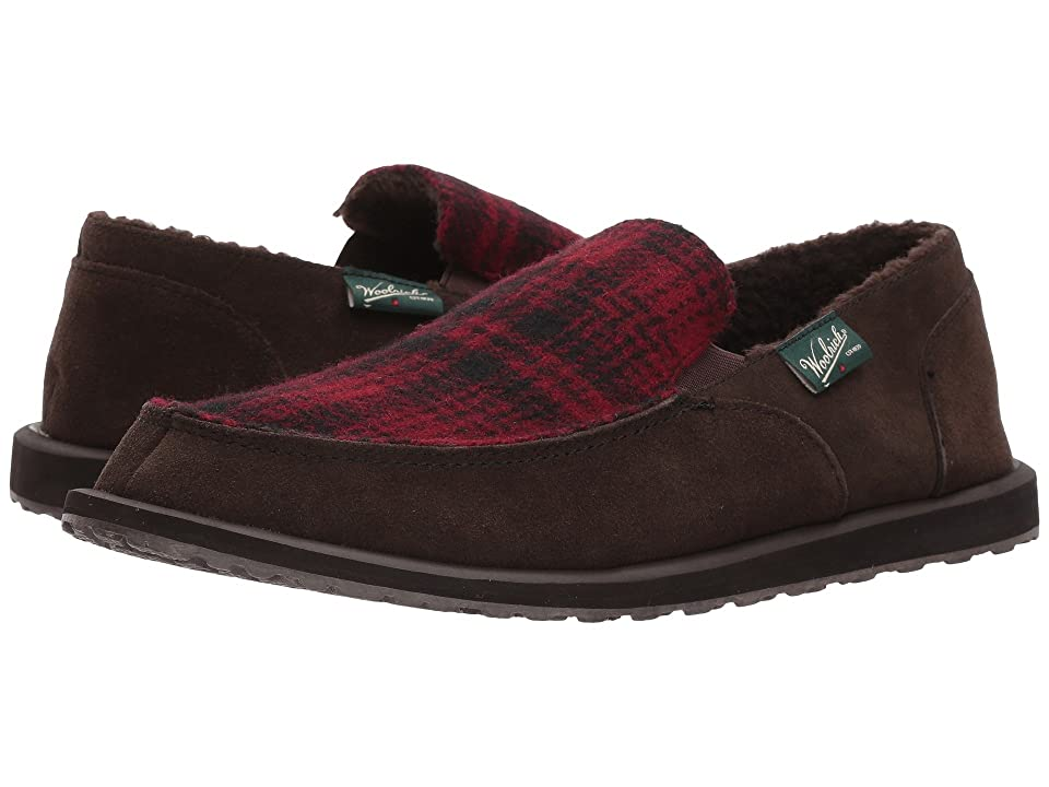 Woolrich Austin Potter II (Chocolate/Red Hunting Plaid Wool) Men