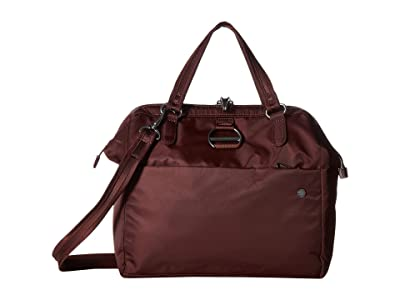 Pacsafe Citysafe CX Anti-Theft Satchel (Merlot) Handbags
