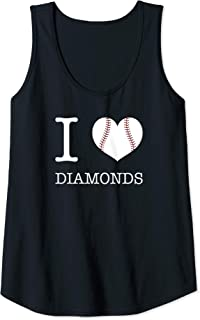 Womens I Love Diamonds Baseball Tank Top