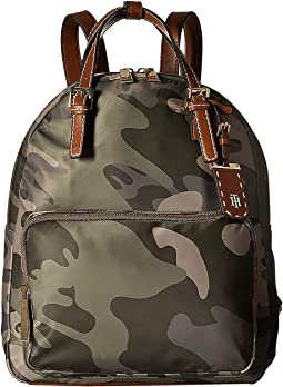 Julia Double Handle Solid Nylon Backpack