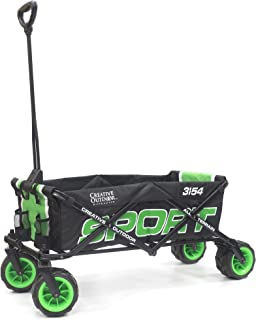 Creative Outdoor Distributor 950209 Collapsible Folding Sport Wagon, Green