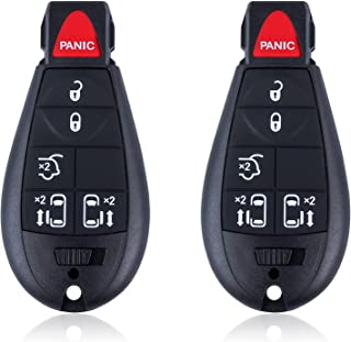 $24 » Car Key Fob Keyless Entry Remote fits Chrysler Town and Country 2008-2015 / Dodge Grand Caravan 2008-2014 Replacement for ...