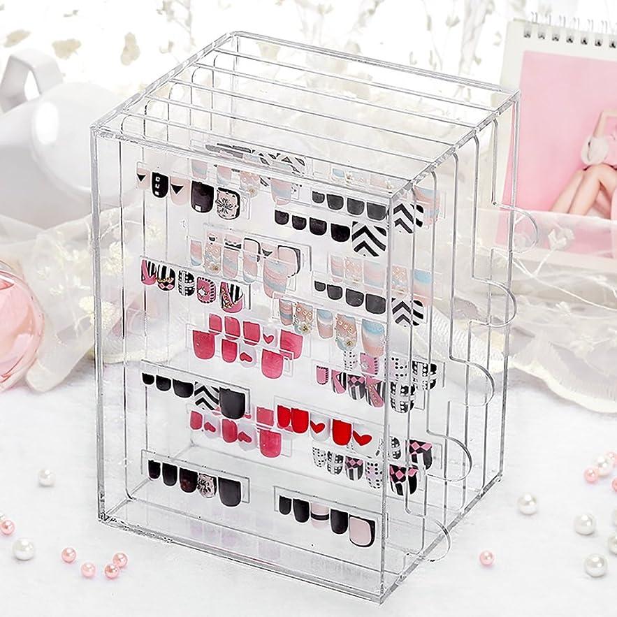 アンティークアリスしなければならないメイクボックス 透明なアクリルネイル美容ディスプレイストレージボックスジュエリー防塵ケース