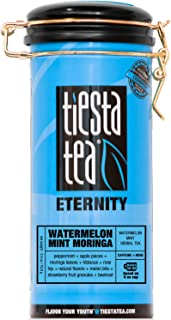 Tiesta Tea Watermelon Mint Moringa, Watermelon Mint Herbal Tea, 50 Servings, 2.5 Ounce Tin, Caffeine Free, Loose Leaf Herbal Tea Eternity Blend, Non-GMO