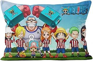 Pirata de Dibujos Animados japonés Personalización Funda Almohada One Piece D. Luffy Fundas de cojín cuadradas la decoración del hogar