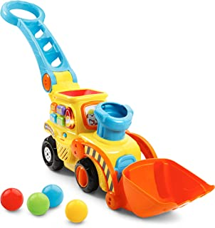VTech 80-506000 Pop-a-Balls Push & Pop Bulldozer Orange