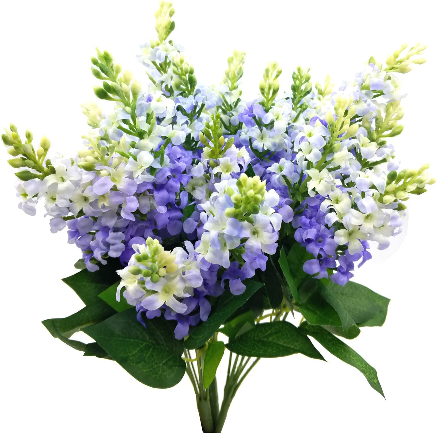 Guagb Artificial Fake Flowers Silk Plastic Plant Arrangement for Home Indoor Outdoor Garden Wedding Table Vase Decorations Faux Snapdragon Flower,3 Bouquets (Lilac)