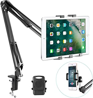 Neewer Universal Smartphone & Tablet Stand (Padded Holder, Adjustable Mounting Clamp) Compatible with iPhone11/11 Pro/11 Pro Max Samsung Galaxy S10+10, iPad Air/iPad Air 2, Samsung Galaxy Tab and More