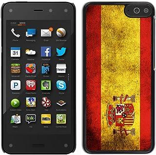 Graphic4You Español Bandera España Vintage Grunge Diseño Carcasa Funda Rigida para Amazon Fire Phone
