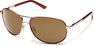 Polarized Sunglasses Aviator in Tortoise with Brown Lens