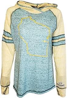 Womens Wisconsin Home Hoodie - WI Stadium Lightweight Burnout Sweatshirt by Hometown Hoodies