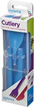 Sistema To Go Collection Cutlery Set, Color Received May Vary, 4-Piece Set