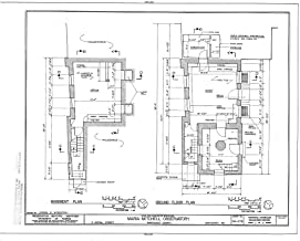 Historic Pictoric Blueprint Diagram HABS Mass,10-NANT,100- (Sheet 2 of 8) - Maria Mitchell Observatory, 3 Vestal Street, Nantucket, Nantucket County, MA 44in x 32in