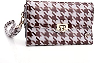 Kroo Clutch Wristlet Wallet with for 5-Inch Smartphone - Non-Retail Packaging - Brown