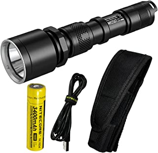 Nitecore MH25GT 1000 Lumen USB Rechargeable LED Flashlight - Long Range Throwing with LumenTac USB Adapters
