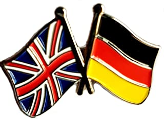 Mainly Metal ™ - Spilla smaltata, motivo: Amicizia, Germania, Regno Unito, Gran Bretagna, 30 mm