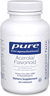 Pure Encapsulations - Acerola/Flavonoid - Vitamin C and Bioflavonoid Hypoallergenic Dietary Supplement - 120 Capsules