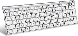 iClever キーボード Bluetooth 日本語 JIS配列3台同時接続可能 テンキー付きフルサイズ 超薄型 ワイヤレス キーボード 静音設計 充電式 18月間無償保証 ラップトップ PC iPad用Windows Mac iOS And...