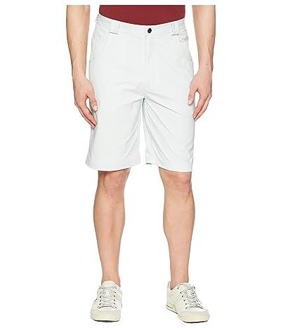 Straight Down Strut Shorts (Silver) Men