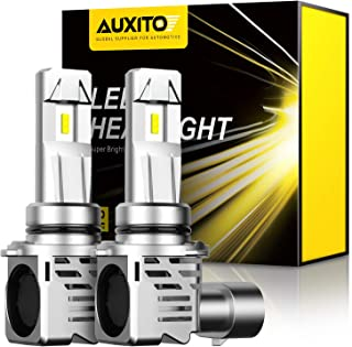 AUXITO 9006 LED Headlight Bulbs 12000LM Per Set 6500K Xenon White Mini Size HB4 Wireless Headlight, Pack of 2