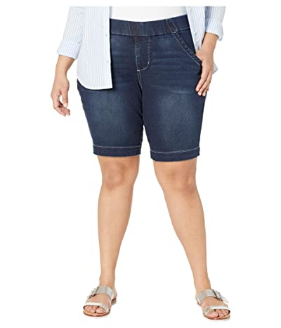 Jag Jeans Plus Size Plus Size Gracie Pull-On Bermuda Shorts (Baltic Blue) Women