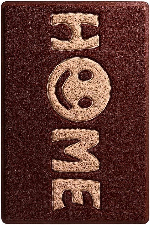 Door Mat Entrance PVC Coil Foot Mat Carpet Home Door Mat 45  75, 60  90 60  120 80  120 120  180 (color   E, Size   80  120)