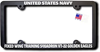 USN FIXED WING TRAINING SQUADRON VT-22 GOLDEN EAGLES License Frame w/REFLECTIVE TEXT