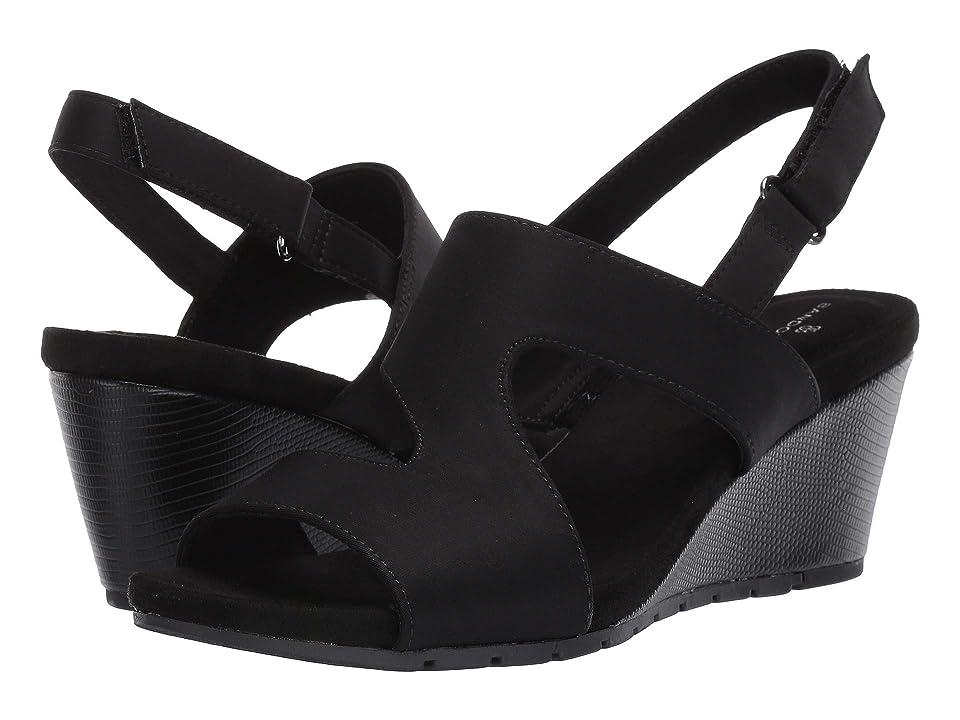 Bandolino Gannett Wedge Sandal (Black) Women