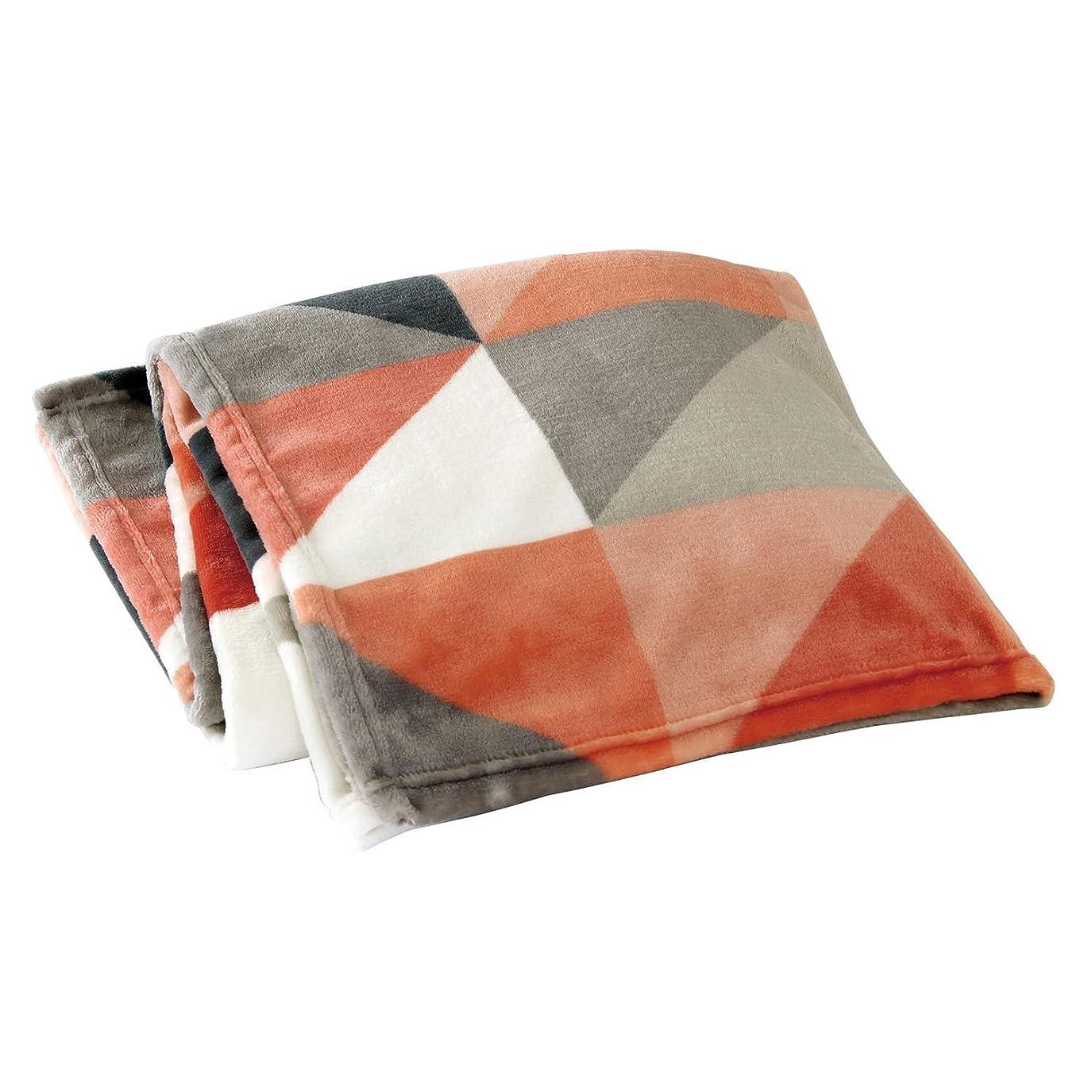SPICE OF LIFE ふわふわブランケット フリース あったか毛布 カラフルモザイク レッド 150×100cm NHLH2810F