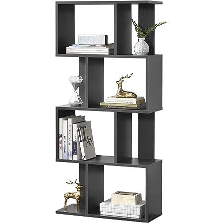 en.casa] Librería 130 x 60 x 24 cm Estante para CDs Soporte ...