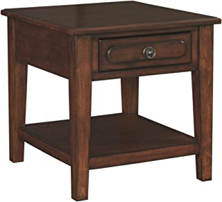 Signature Design by Ashley - Adinton Rectangular End Table, Reddish Brown
