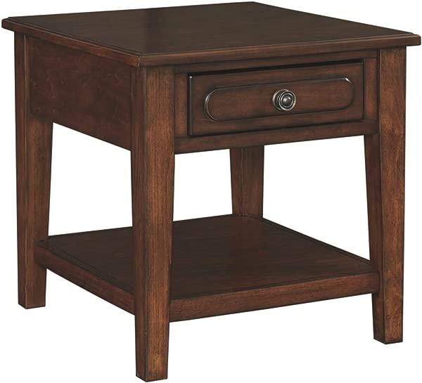 Signature Design By Ashley Adinton Reddish Brown Rectangular End Table