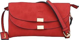 B BRENTANO Vegan Fashion Double-Flap Wristlet Clutch Crossbody Handbag