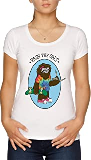 Pass The Salt - Stoner Sloth Camiseta Mujer Blanco