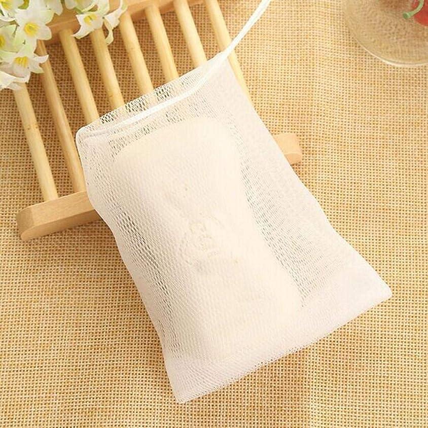 Wholehot 10枚セット 石鹸ネット 巾着 石鹸を無駄なく最後まで使い切れる 泡立てネット ソープインホイッパー 石鹸 ホイップ メッシュ 129cm