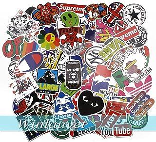 Winlauyet 100x Sticker Aufkleber für Skateboard Snowboard Koffer Notebook Auto Kühlschrankaufkleber Kofferraum Stickerbomb Sticker (Design A)