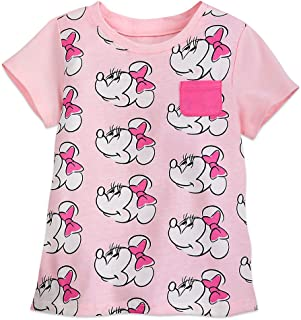 Disney Minnie Mouse Allover T-Shirt for Girls - Pink