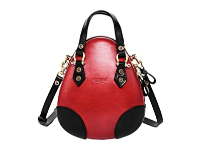 Old Trend Genuine Leather Fairy Lantern Satchel (Red) Handbags