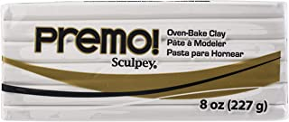 Sculpey Premo™ Polymer Oven-Bake Clay, White, Non Toxic, 8 oz. bar, Great for jewelry making, holiday, DIY, mixed media an...