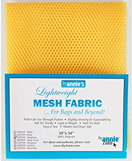 By Annie Mesh Fabric Lightweight 18x54 Dandelion