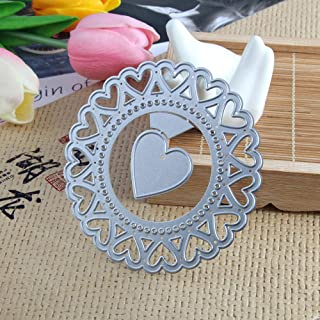 Peach Heart Metal Cutting Dies for Card Making, NOMSOCR Cut Die Metal Stencil Template Mould for DIY Scrapbook Embossing Album Paper Card Craft Birthday Festival Decoration (Peach Heart)