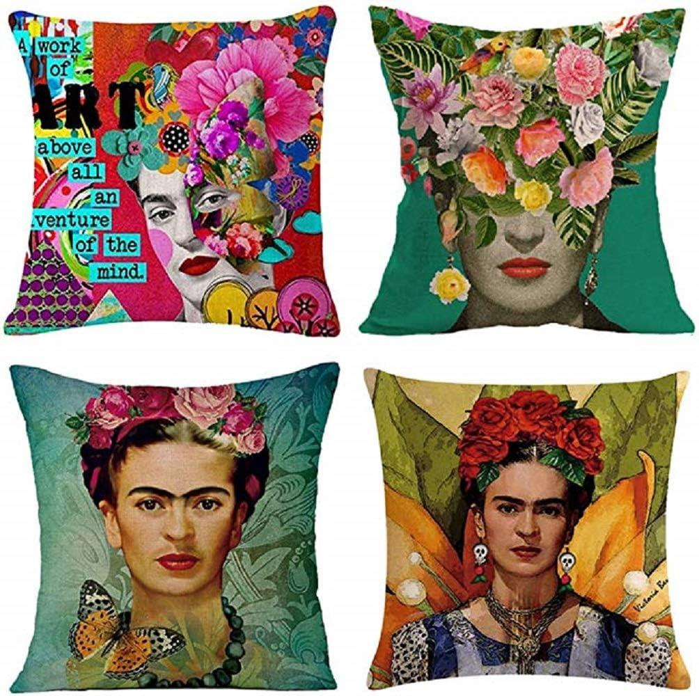 gircat 4 Lowest price challenge pcs Oil Painting Frida Self-Portrait Cotton Kahlo Linen Genuine