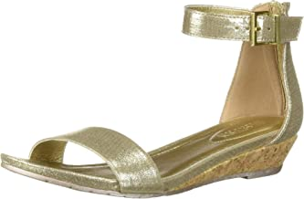 wedge sandals gold