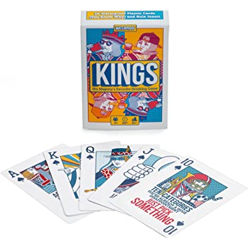 Kings Drinking Game Playing Cards - Waterproof Custom Plastic Cards with Instructions on The Cards - Ring of Water, Waterfall, King's Cup by Brewski Brothers