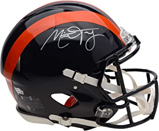 Mitchell Trubisky Chicago Bears Autographed Riddell Throwback 1936 Speed Authentic Helmet - Fanatics Authentic Certified