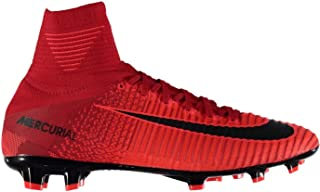 Official Nike Mercurial Superfly Firm Ground Football Boots Juniors Red Soccer Cleats